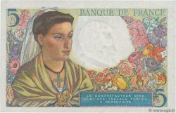5 Francs BERGER  FRANCE  1943 F.05.05 SUP