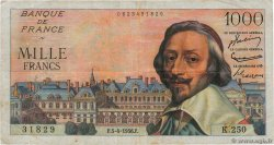 1000 Francs RICHELIEU  FRANCE  1956 F.42.20 TB
