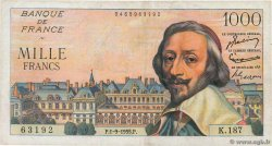1000 Francs RICHELIEU  FRANCE  1955 F.42.15