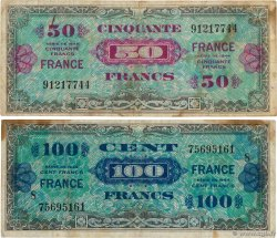 50 et 100 Francs FRANCE Lot FRANCE  1945 VF.24.01 et VF.25.08 TB