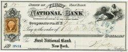 80 Dollars ÉTATS-UNIS DAMÉRIQUE Cooperstown 1867 DOC.Chèque