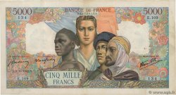 5000 Francs EMPIRE FRANÇAIS FRANCE  1942 F.47.05 pr.TTB