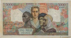 5000 Francs EMPIRE FRANÇAIS FRANCE  1946 F.47.55 pr.TTB