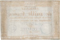 1000 Francs FRANCE  1795 Ass.50a VF-
