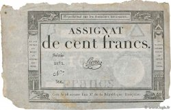 100 Francs  FRANCE  1795 Ass.48a VF-