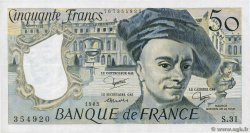 50 Francs QUENTIN DE LA TOUR FRANCE  1983 F.67.09 TTB+