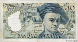 50 Francs QUENTIN DE LA TOUR FRANCE  1987 F.67.13 TB