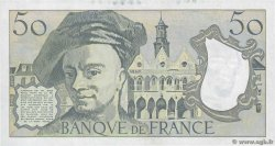 50 Francs QUENTIN DE LA TOUR FRANCE  1989 F.67.15 SPL