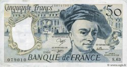 50 Francs QUENTIN DE LA TOUR FRANCE  1991 F.67.17 TB+