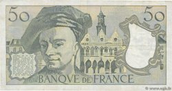 50 Francs QUENTIN DE LA TOUR FRANCE  1991 F.67.17 TB