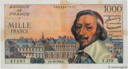 1000 Francs RICHELIEU  FRANCE  1956 F.42.22