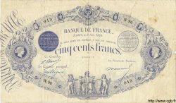 500 Francs Indices Noirs 1863 FRANCE  1876 F.A40.10 pr.TB