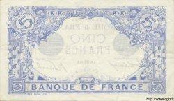 5 Francs BLEU FRANCE  1916 F.02.44 pr.SUP