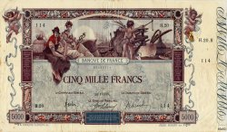 5000 Francs FLAMENG FRANCE  1918 F.43.01 TB+