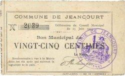 25 Centimes FRANCE régionalisme et divers JEANCOURT 1915 JP.02-1243 TTB