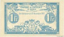 1 Franc ORAN ALGÉRIE  1915 JP.141.08 NEUF