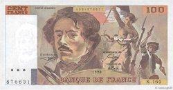 100 Francs DELACROIX imprimé en continu FRANCE  1990 F.69bis.02b SPL