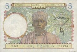 5 Francs type 1934 AFRIQUE OCCIDENTALE FRANÇAISE (1895-1958)  1941 P.25 SUP