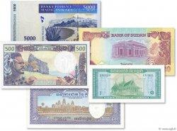 Lot de 5 billets Monde LOTS  1972 P.04-07-84-01-47 NEUF