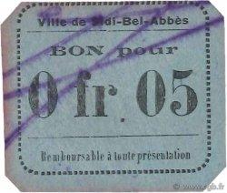 5 Centimes SIDI-BEL-ABBES ALGÉRIE  1915 JPCV.04 pr.SUP