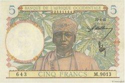 5 Francs type 1934 AFRIQUE OCCIDENTALE FRANÇAISE (1895-1958)  1942 P.25 pr.NEUF
