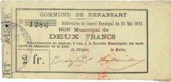 2 Francs FRANCE régionalisme et divers RENANSART 1915 JP.02-1920 TTB