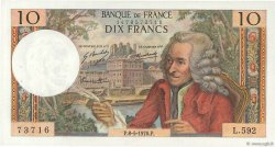 10 Francs VOLTAIRE FRANCE  1970 F.62.44 SUP à SPL