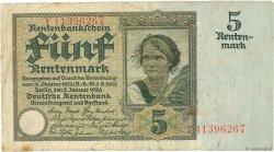 5 Rentenmark ALLEMAGNE  1926 P.169 TB