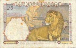 25 Francs type 1933 AFRIQUE OCCIDENTALE FRANÇAISE (1895-1958)  1936 P.22 TB