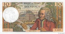 10 Francs VOLTAIRE FRANCE  1971 F.62.48 SUP à SPL