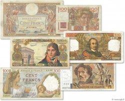Lot 6 billets BdF : Les 100 Francs au XXe siècle FRANCE  1940 F.25-26-28-59-65-69 TB