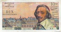 10 Nouveaux Francs RICHELIEU FRANCE  1959 F.57.01 TTB à SUP