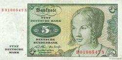 5 Deutsche Mark ALLEMAGNE  1970 P.030a TTB