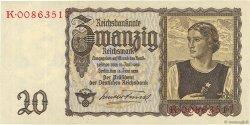 20 Reichsmark ALLEMAGNE  1939 P.185 pr.SPL