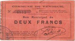 2 Francs FRANCE régionalisme et divers  1915 JP.02-2367 TTB