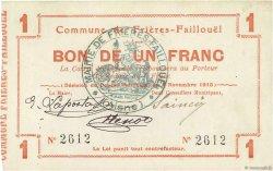 1 Franc FRANCE régionalisme et divers FRIERES FAILLOUEL 1915 JP.02-1031 TTB+