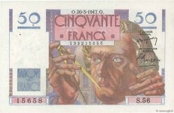 50 Francs LE VERRIER FRANCE  1947 F.20.07 SPL