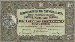 5 Francs SUISSE  1944 P.11k SUP+