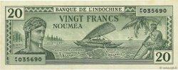 20 Francs NOUVELLE CALÉDONIE  1944 P.49 SPL