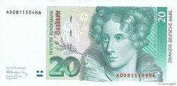20 Deutsche Mark ALLEMAGNE  1991 P.039a SUP+