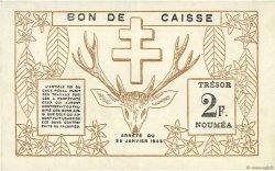 2 Francs NOUVELLE CALÉDONIE  1943 P.56a SUP