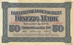 50 Mark ALLEMAGNE Kowno 1918 P.R132 TB