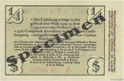 1/4 Dollar ALLEMAGNE Biebrich 1923 Mul.0420s pr.NEUF