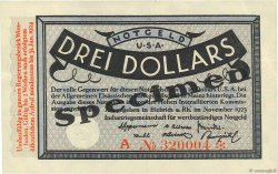 3 Dollars ALLEMAGNE  1923 Mul.0420s pr.NEUF