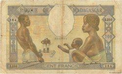 100 Francs MADAGASCAR  1937 K.813b B+ à TB