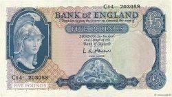 5 Pounds ANGLETERRE  1957 P.371a SUP