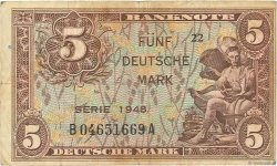 5 Mark ALLEMAGNE  1948 P.004a TB