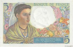 5 Francs BERGER FRANCE  1943 F.05.02 NEUF