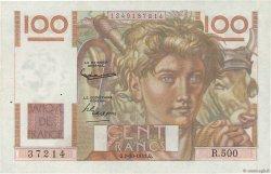 100 Francs JEUNE PAYSAN filigrane inversé FRANCE  1952 F.28bis.01 pr.SUP