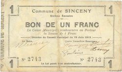 1 Franc FRANCE régionalisme et divers  1915 JP.02-2188 TB+